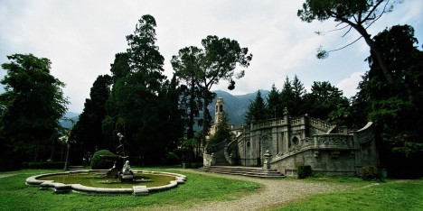 The public gardens of Tremezzo, Lake Como, Lombardy, Italy