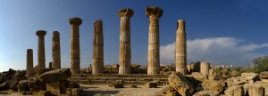 Remains of the Temple of Heracles, Agrigento, Sicily, Italy