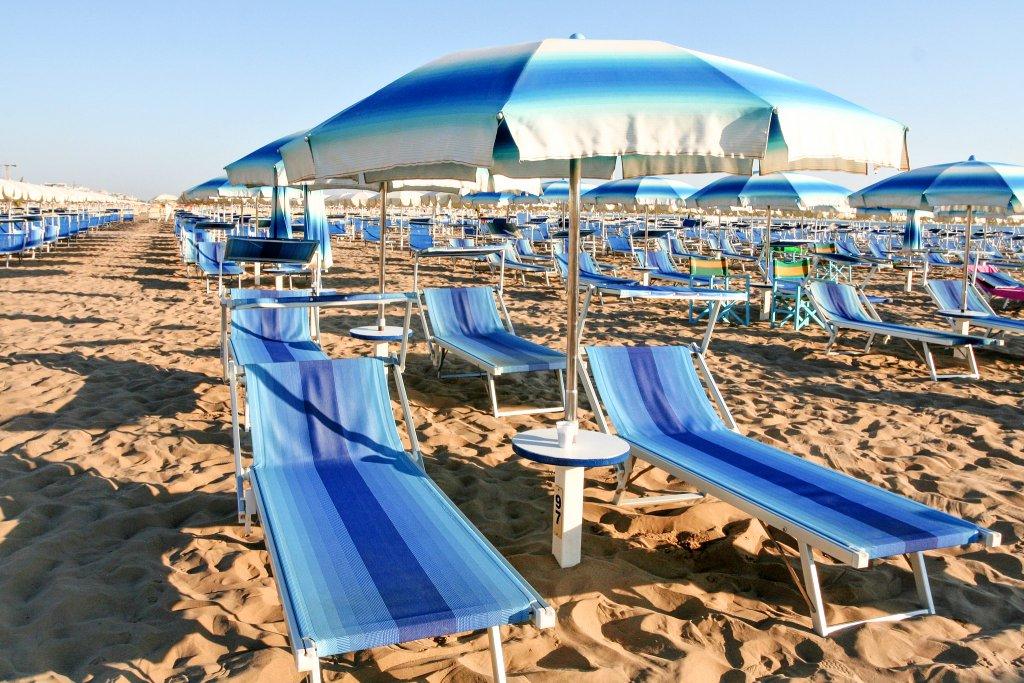 Rimini beach, Emilia-Romagna, Italy