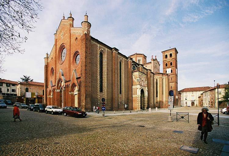 Asti cathedral, Piemonte, Italy