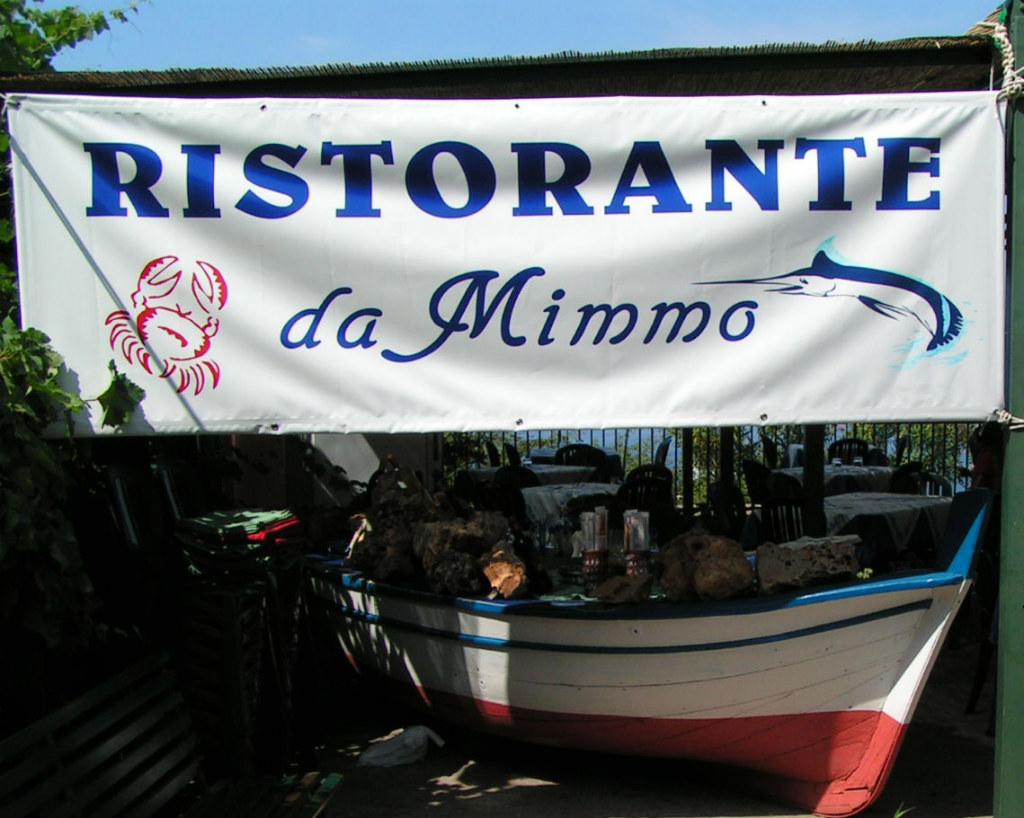 Ristorante da Mimmo, Sicily, Italy