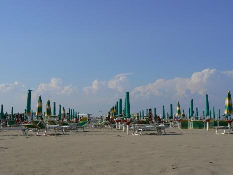 Beach in Ravenna, Emilia-Romagna, Italy