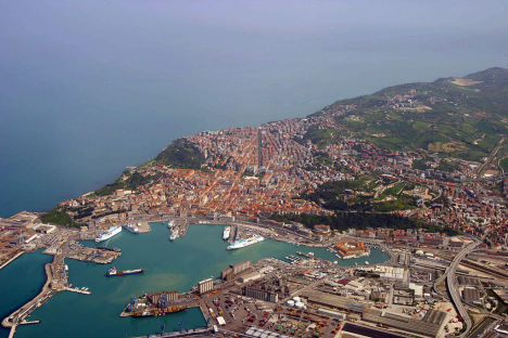 Ancona Aerial view, Marche, Italy
