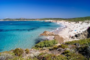 Beach on Sardinia on the way from St. Teresa di Gallura to Alghero, Italy