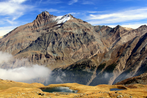 Djouan and Grivola lakes in Gran Paradiso National Park, Italy