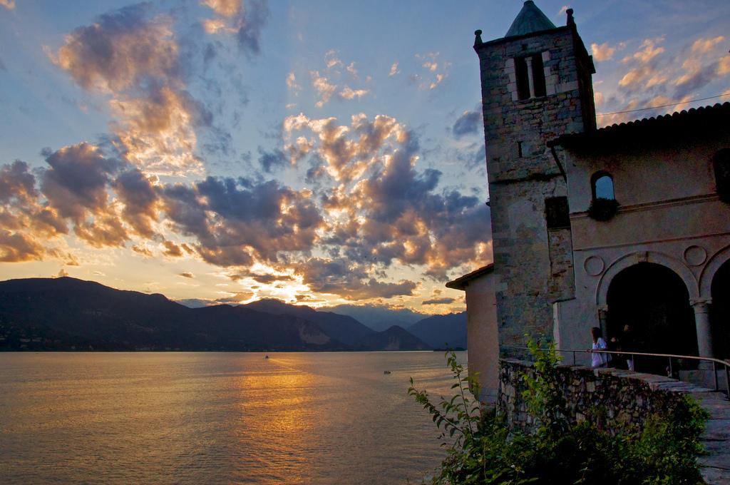 Santa Caterina del Sasso at Lago Maggiore, Italy