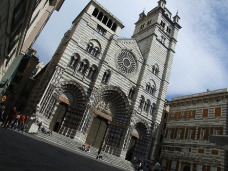 Genoa Cathedral, Liguria, Italy