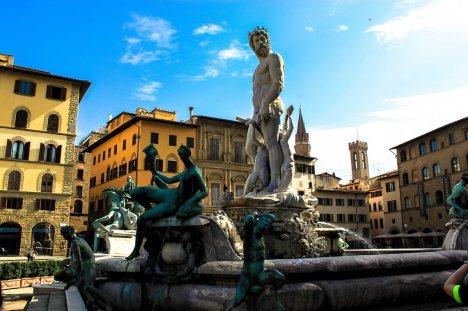 Neptune fountain, Florence, Tuscany, Italy