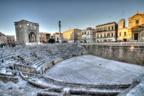 Roman Amphiteatre at Sant'Oronzo Square, Lecce, Puglia, Italy