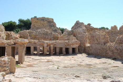 Roman bathhouse, Nora, Sardinia, Italy