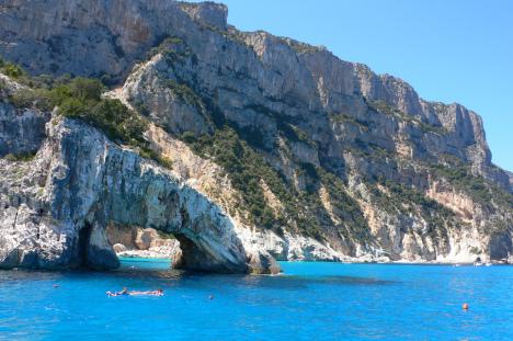 Sea Arch in the Gulf of Orosei, Sardinia, Italy