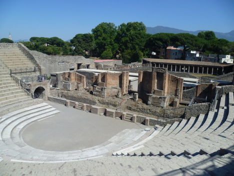Theatre at Pompeii, Italy