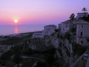 Amantea at sunset, Calabria, Italy