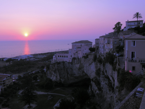 Amantea at sunset, Calabria, Italy