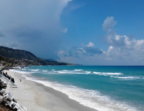 Beach in Parghelia, Calabria, Italy