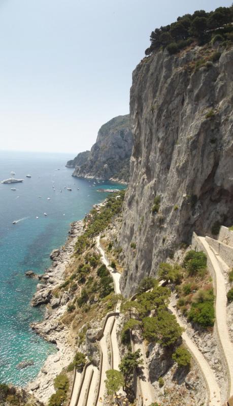 Capri coastline, Campania, Italy