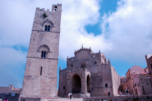 Chiesa della Matrice and bell tower, Erice, Sicily, Italy