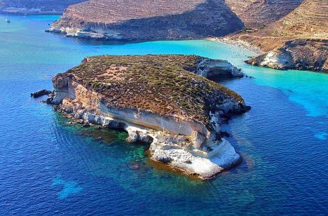 Conigli islet, Lampedusa island, Sicily, Italy