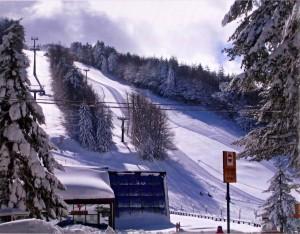 Skiing in Camigliatello, Calabria, Italy