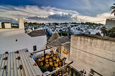View over Alberobello, Puglia, Italy