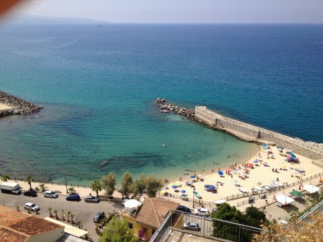 Sea and beach at Pizzo, Calabria, Italy