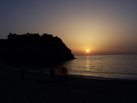 Sunset in Tropea, Calabria, Italy