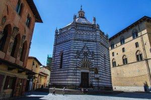 Baptistery in Pistoia, Tuscany, Italy