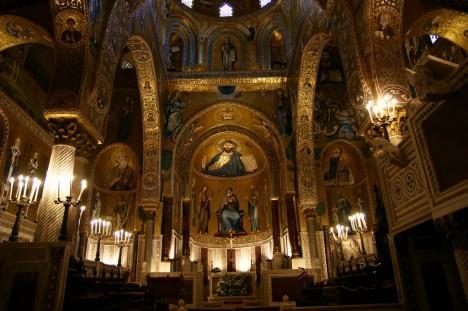 Cappella Palatina, Palazzo dei Normanni, Palermo, Sicily, Italy