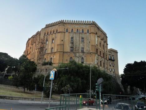 Palazzo dei Normanni - back view, Palermo, Sicily, Italy