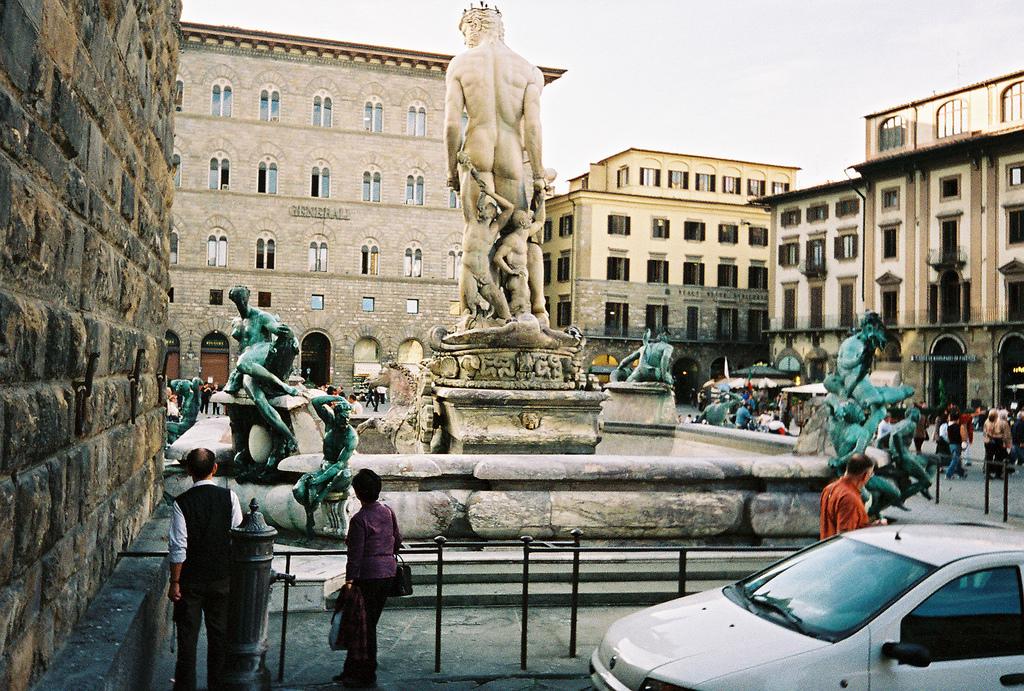 Statue of Neptune in Piazza della Signoria, Florence, Tuscany, Italy