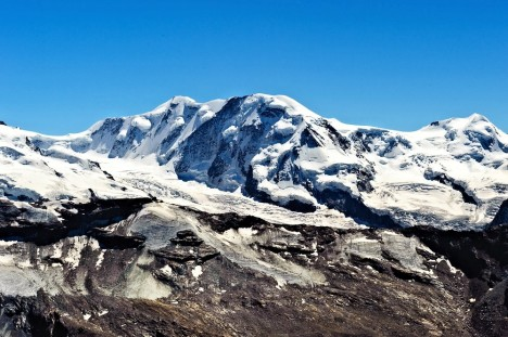 Monte Rosa from the summit of Oberrothorn, Pennine Alps, Italy