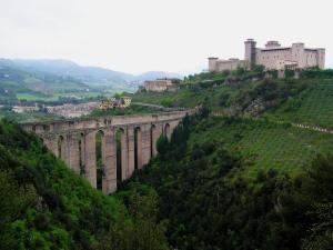 Ponte delle Torri and Rocca Albornoziana, Spoleto, Umbria, Italy