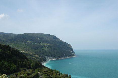 A view of Monte Conero, Marche, Italy
