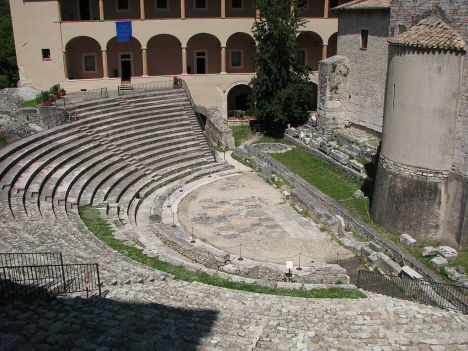 Roman theatre in Spoleto, Umbria, Italy