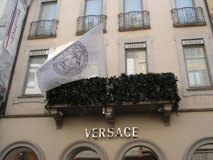 Versace boutique, Milan, Lombardy, Italy