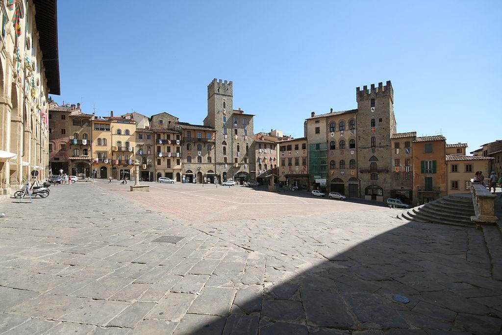 Piazza Grande, Arezzo, Tuscany, Italy