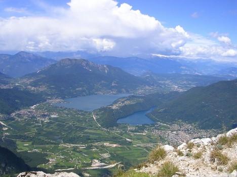 Bassa Valsugana with lakes Levico and Caldonazzo, Trentino-Alto Adige, Italy