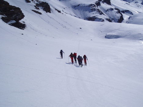Ski mountaineering, Aosta Valley, Italy