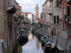 Typical street in Venice, Italy