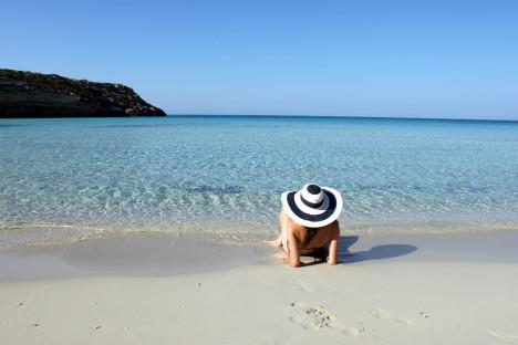Amazing beach in Lampedusa, Sicily, Italy