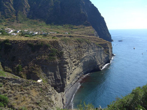 Amazing coastline of Salina, Aeolian Islands, Sicily, Italy