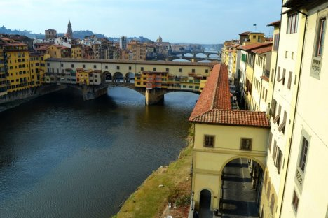 Arno river and Ponte Vecchio, Florence, Tuscany, Italy
