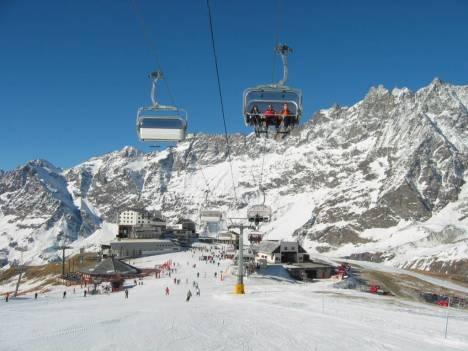 Cervinia ski area, Aosta Valley, Italy