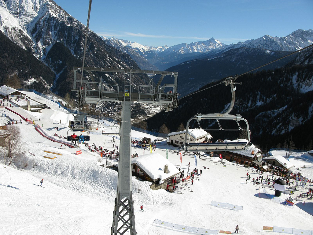 Courmayeur ski area, Aosta Valley, Italy
