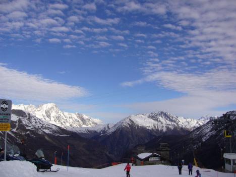 La Thuile ski area, Aosta Valley, Italy