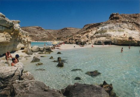 The beaches at Lampedusa, Sicily, Italy