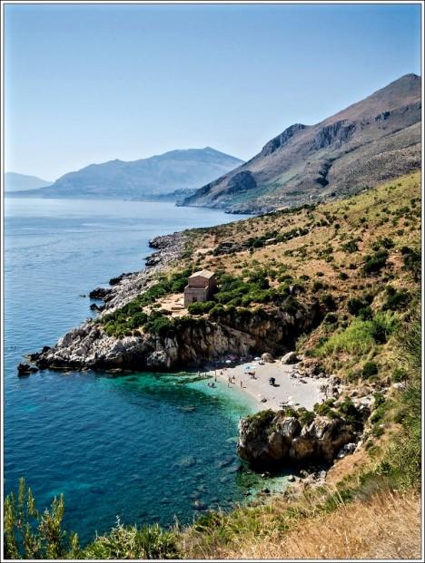Lo Zingaro Nature Reserve with Cala Tonnara del Uzzo, Sicily, Italy