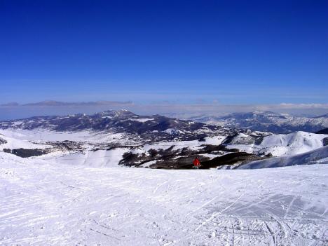 Monte Pratello, Abruzzo skiing, Italy
