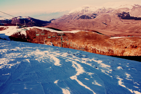 Roccaraso, skiing in Abruzzo, Italy