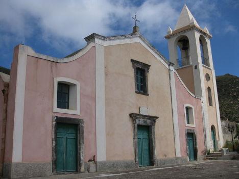 Santo Stefano Church in Valdichiesa, Filicudi, Sicily, Italy